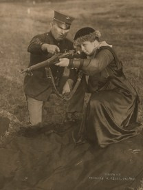 """Mrs. Richard W. Sears at Wakefield rifle range, Wakefield, MA."" Date taken: June 1918 (Local ID: 165-WW-143B-7)"