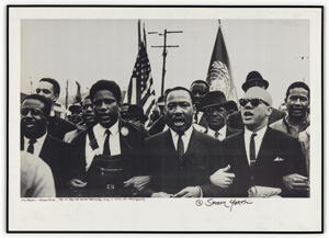 406-SMP-15: Photograph of Martin Luther King Jr. Marching Arm in Arm with Civil Rights Activists