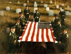 "330-CFD-DA-SC-85-00917: Artwork: ""Military Funeral"". Artist: B. Keeler. Catalog Number: P.11.8.83."