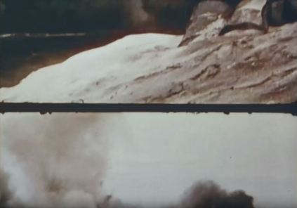 Ford showed film going out of frame to indicate the force of the explosions during battle.