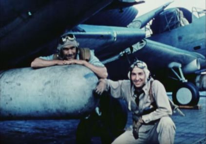 Lt. Raymond A. Moore and ARM 1st Class Tom Harstsel Pettry
