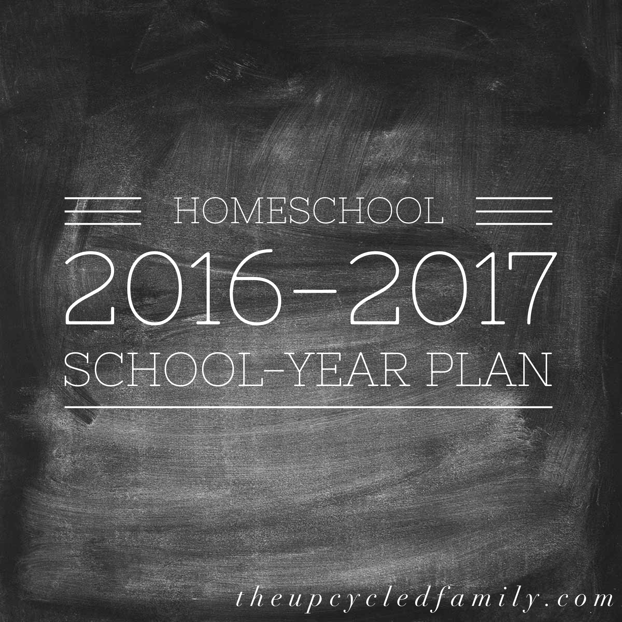 Homeschool plan