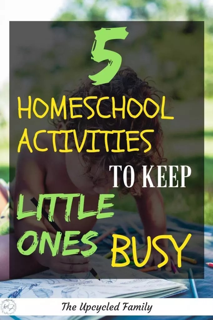 The Best Homeschool busy activities for little ones (or even bigger learners). Fun homeschool ideas to keep your homeschool preschoolers or older busy (and learning) while you work with other kids or get other tasks done. #homeschool #homeschoolbusywork #homeschoolideas #homeschoolpreschoolactivities #homeschoolkindergarten #homeschoolpreschool #homeschoolactivities
