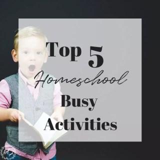 homeschool busy activities