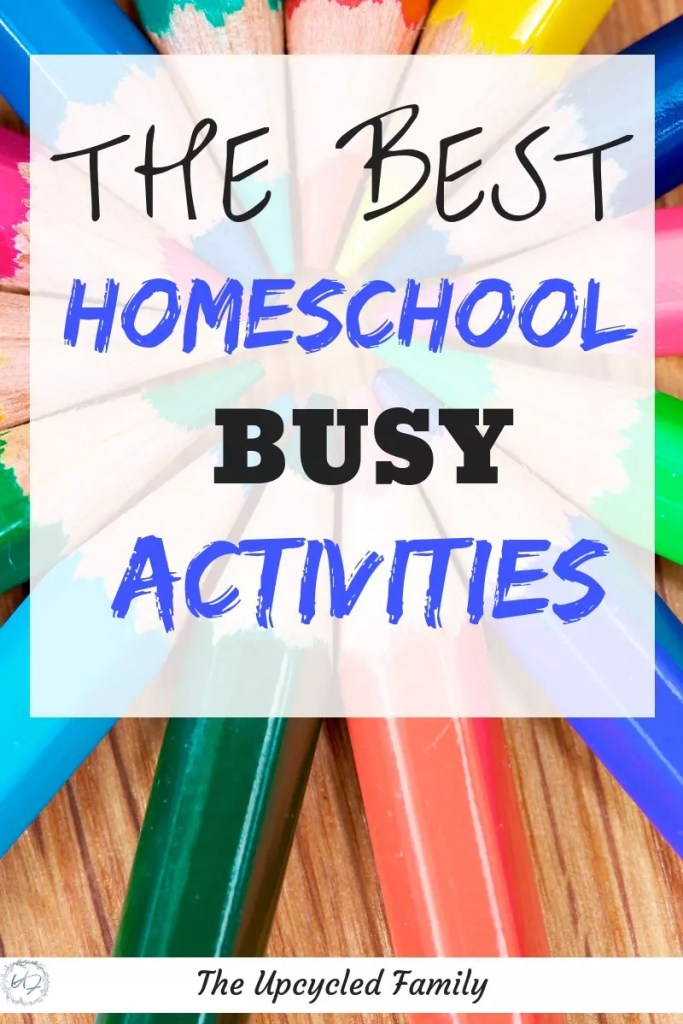 The Best Homeschool busy activities. Fun homeschool ideas to keep your homeschool preschoolers or older busy (and learning) while you work with other kids or get other tasks done.  #homeschool #homeschoolbusywork #homeschoolideas #homeschoolpreschoolactivities #homeschoolkindergarten  #homeschoolpreschool #homeschoolactivities