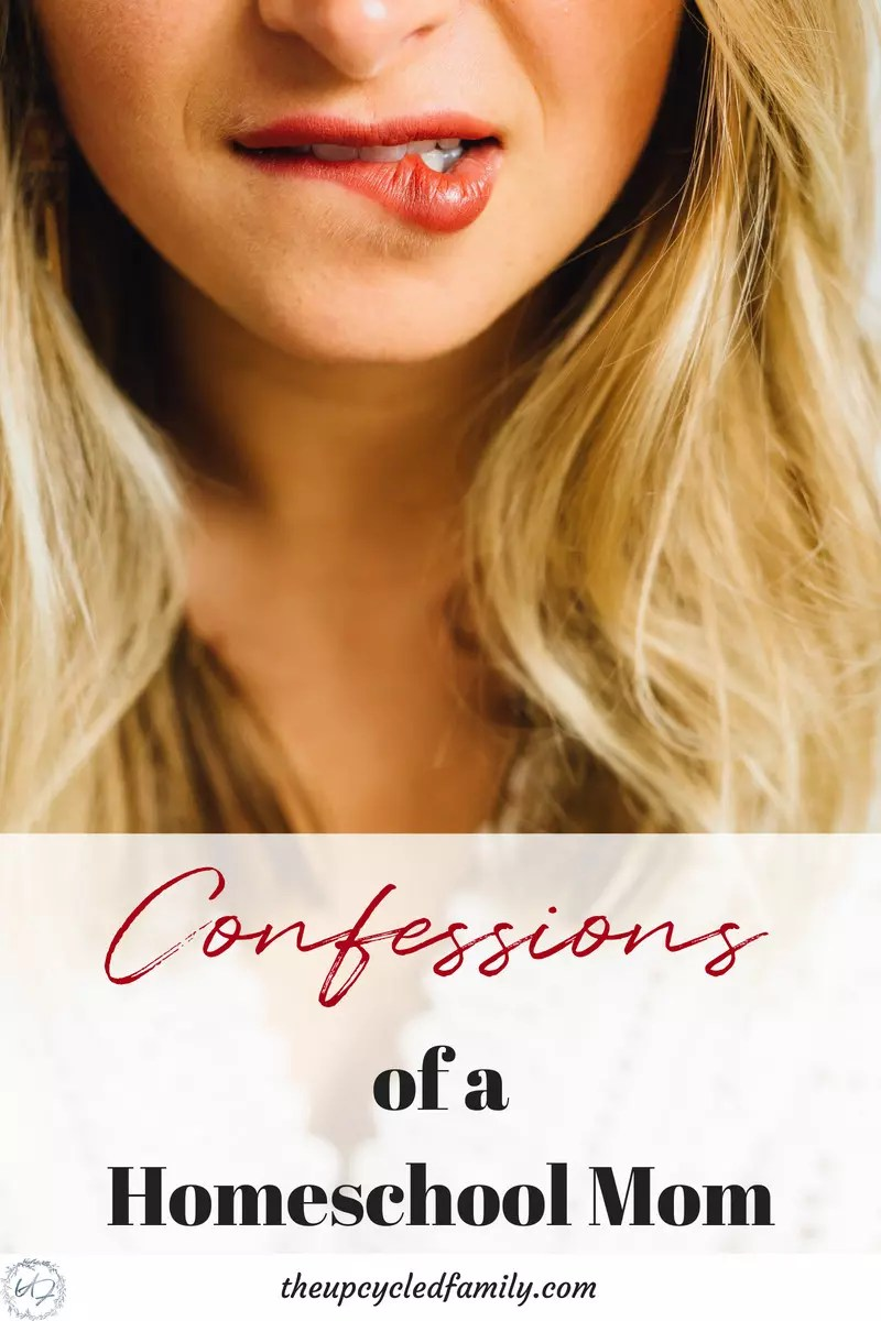 Confessions of a homeschool mom