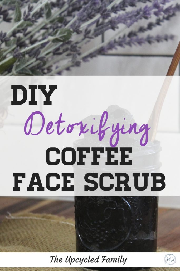 Easy DIY face scrub. This simple scrub is exfoliating and detoxifying and made with ingredients you most likely have in your kitchen right now! #diyfacescrub #coffeefacescrub #coconutoilfacescrub #sensitiveskin #activatedcharcoal