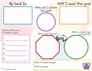 kids goal setting worksheet