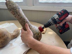 gourd birdhouse DIY