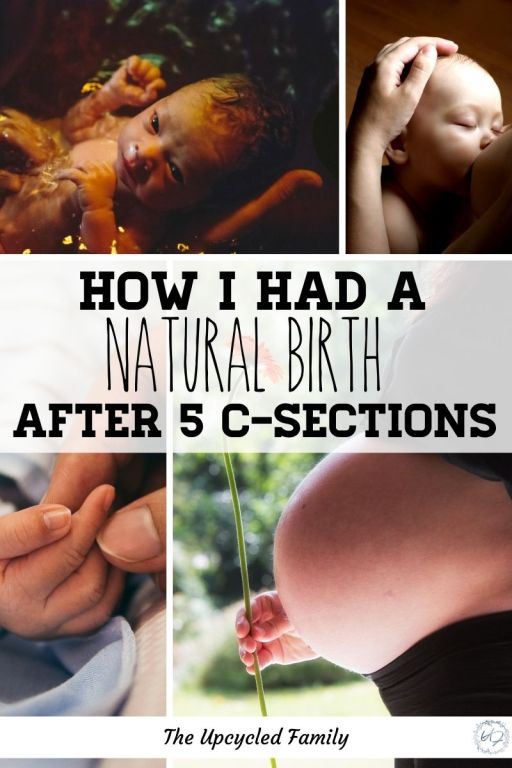 how I had a natural birth after 5 c-sections