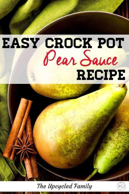 Easy Croickpot pear sauce