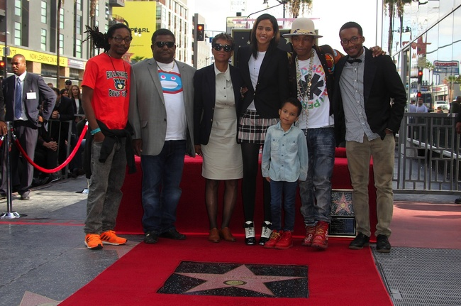 Pharrell Williams honored with a star on the Hollywood Walk of Fame