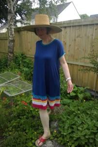anthro dress big hat