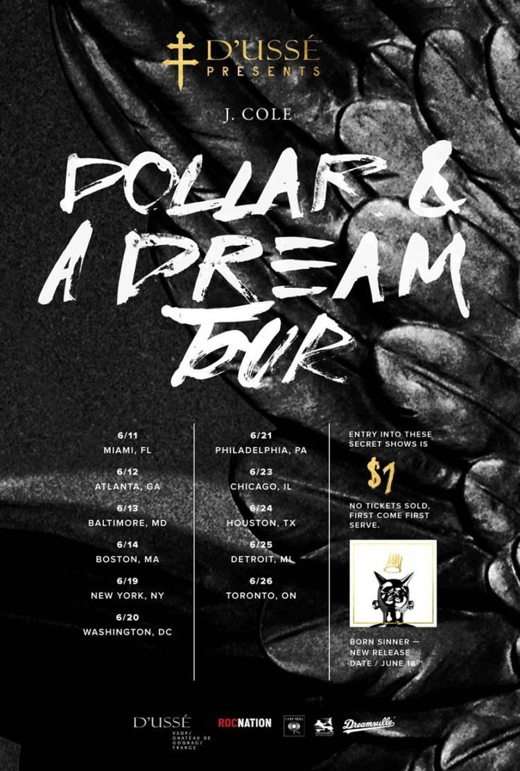 J Cole Tour Dates