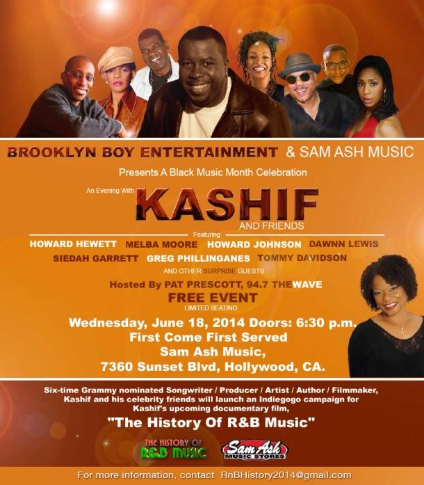 Kashif and friends sam ash eblast