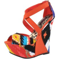 PRINT| Dollhouse Mayans Wedge $32, available at MetroParkUSA.com