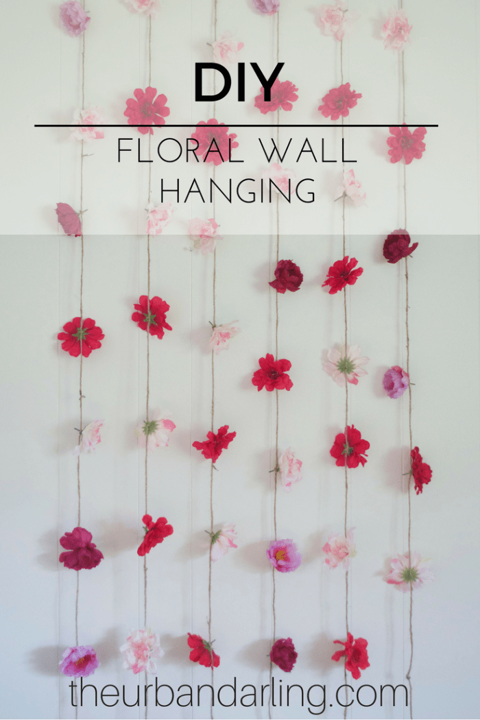 Flower Wall Hanging DIY on Hanging Wall Sconces For Flowers id=41171