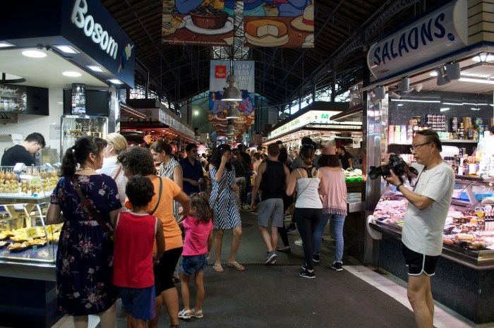 La Rambla, Boqueria Market, Barcelona, Spain, food, food vendors, fresh, fruit, juice, travel, europe, market