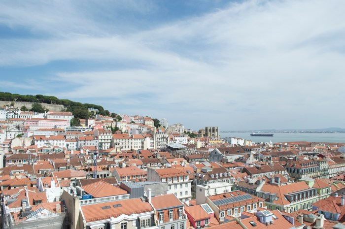 Lisbon, Portugal, Europe, travel, colorful buildings, wanderlust, explore, history, city, Santa Justa Lift, lift, view, viewing, platform, panoramic, view