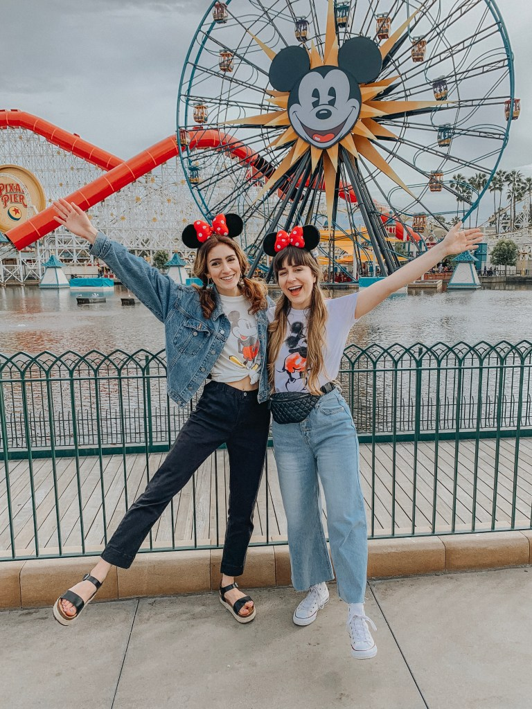Disneyland, Disney California Adventure, California Adventure, California, Paradise Pier, Incredicoaster, Mickey's Fun Wheel, Instagram, Disneyland Instagram photo guide, photo guide, Disney, travel blogger, fashion blogger, travel, fashion, sisters