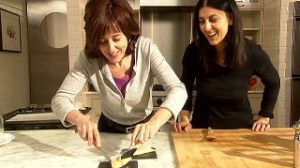 Chef Franca Mazza instructing one of her students in fine culinary delights.