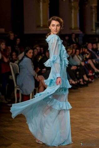 mirela diaconu blue dress @ Romanian Fashion Philosphy