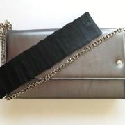 geanta piele gri metal mydreambag accesoriu detasabil negru sashaccessories