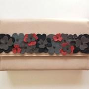 geanta piele nude mydreambag accesoriu flori grey AGS009 sashaccessories
