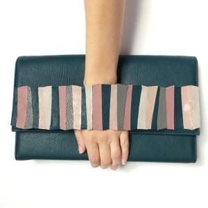 geanta verde piele sashaccessories mydreambag accessoriu PinkGreen AGS004