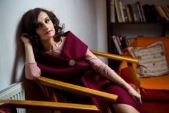 Vesta -rochie stofa lana grena by Gia Bacioiu