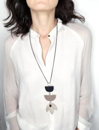 colier sash piele urban elements cu perla