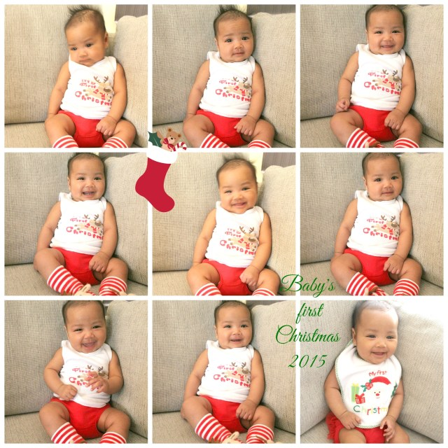 Hannah's first Christmas happy 2015