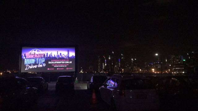 The Urban Ma at Docklands drive ins Backlot Rooftop open air cinema