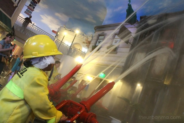 Fire fighting Kidzania Manila blog review The Urban Ma