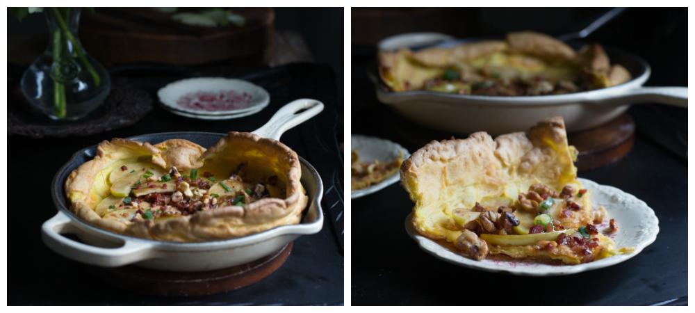 Grain Free Dutch Pancake w/Prosciutto & Apples