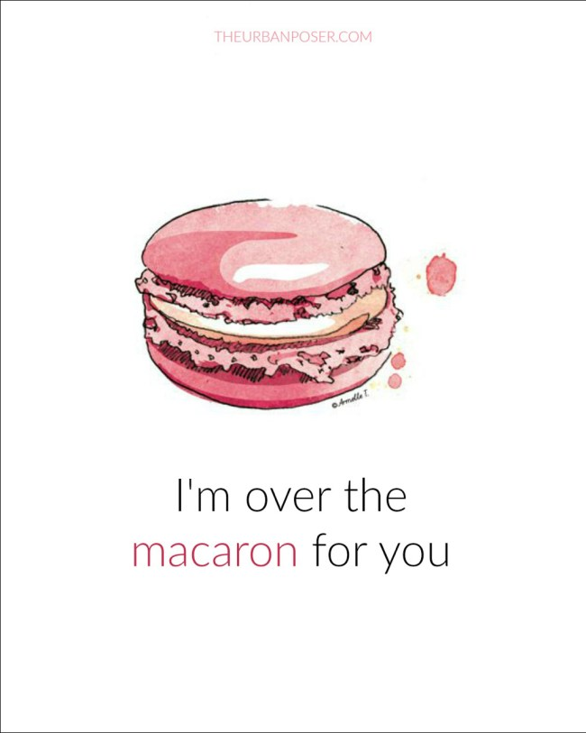 Valentine's over the macron for you
