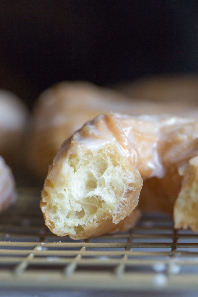 grain-free french crullers closeup