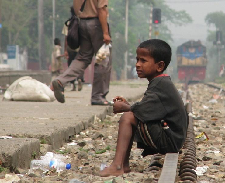 African Child Begging