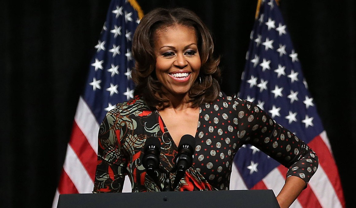 Michelle Obama Visits DC High School To Discuss Importance Of Education