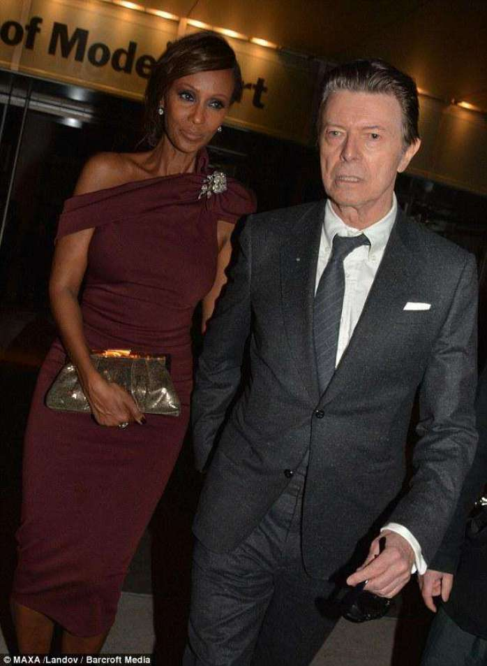 Fashion Icon and model Iman was married to musician David Bowie from 1992 until his death in 201 . The two have a daughter, Alexandria.