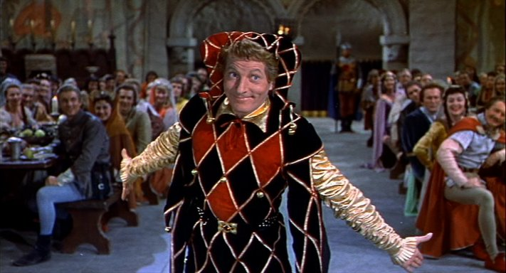 Screen grab from 'The Court Jester'