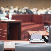 courtroom for car accident lawsuit