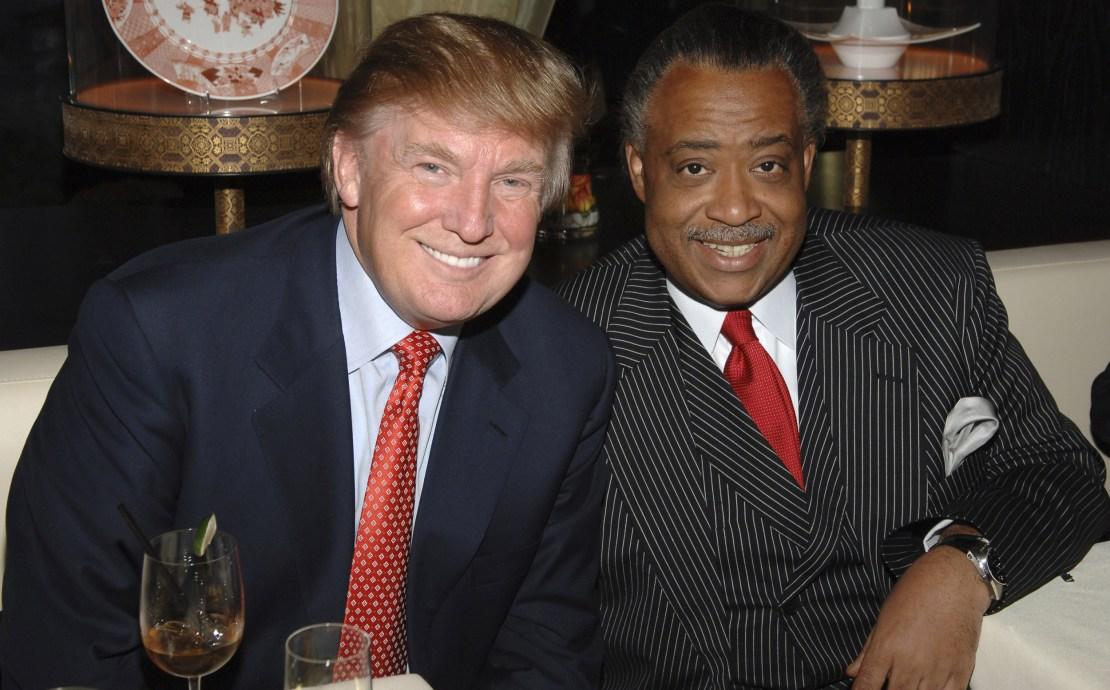 Donald Trump and Al Sharpton