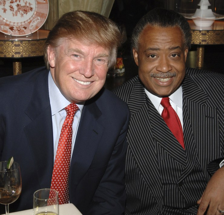 Donald Trump and Al Sharpton