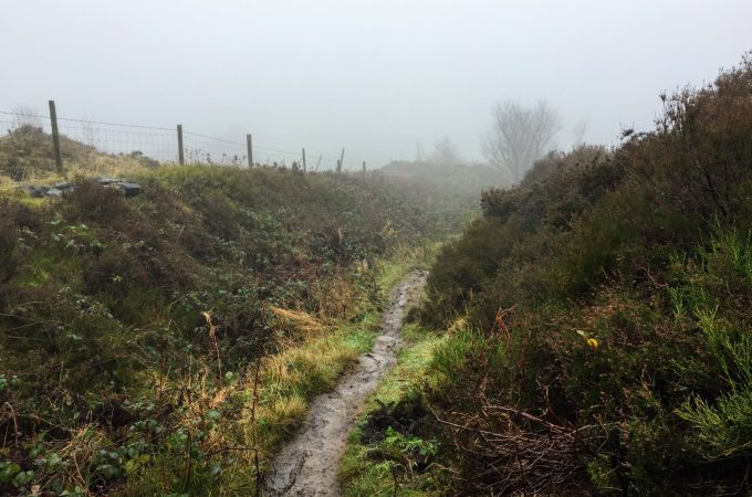 Misty views at Werneth Low Country Park