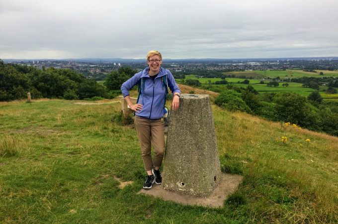 Trig Bagging on tandle Hill | Tandle Hill | Oldham | Royton | Greater manchester | Ordance Survey trig Points | Ordnance Survey | Under 30 minutes from Manchester | The Urban Wanderer | Sarah Irving | Europe | Outdoor Blogger | Travel Blogger | Manchester Blogger