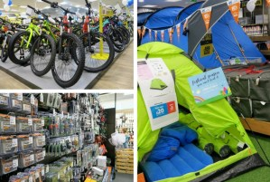 The products kept upstairs at Go Outdoors Preston