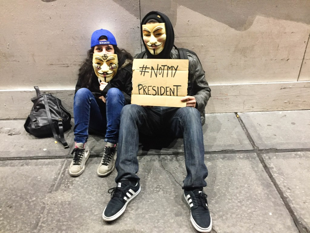 Protesters by the Trump Tower in New York City. Photo: Courtesy ofThe Urban Watch/ Demi Vitkute
