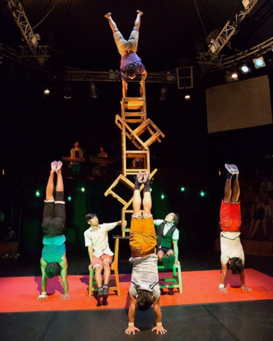 Phare, the Cambodian Circus is organized by Phare Ponleu Selpak (PPS) or, The Brightness of Arts