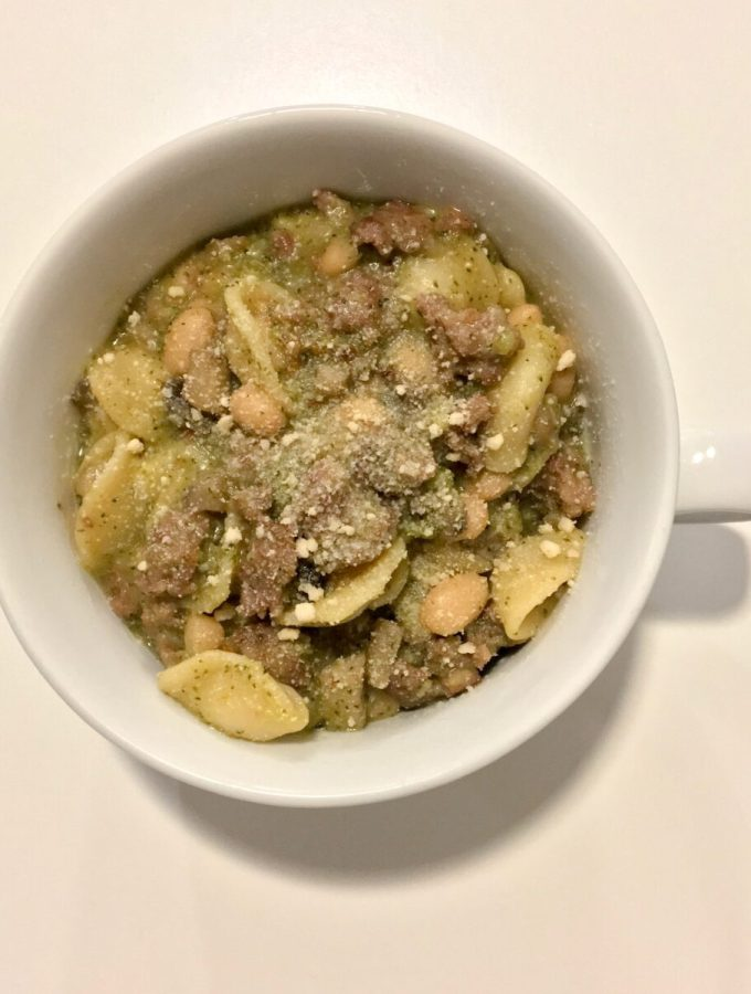 Orecchiette with Sausage and Veggies